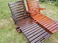 Деревянный садовый шезлонг 200х60 см, фото 1