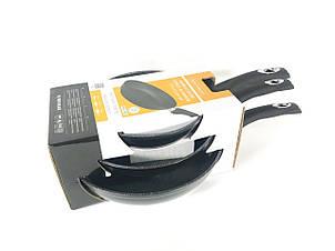 Набор сковородок Royalty Line RL-FM3 BLACK 3 шт с мраморным покрытием без крышек