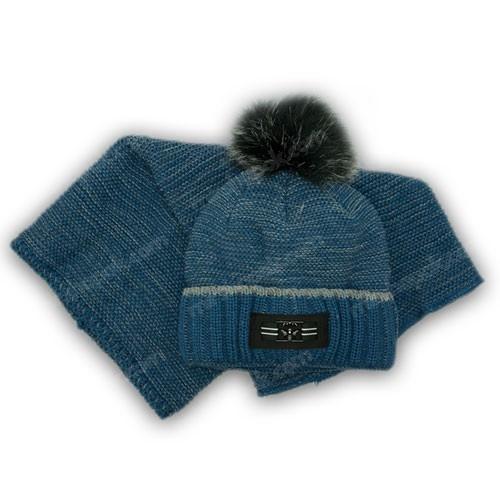 Комплект шапка і хомут для хлопчика