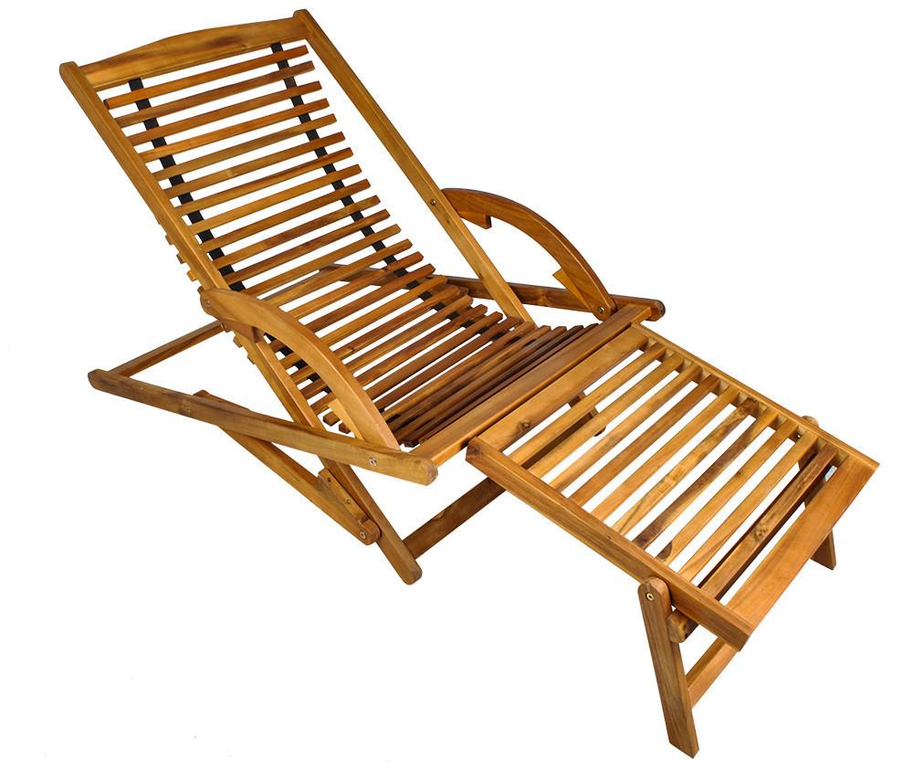 Деревянное раскладное кресло