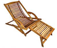 Деревянное раскладное кресло, фото 1
