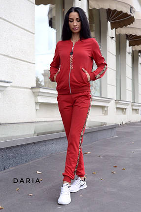 Женский спортивный костюм на молнии из двунитки разных цветов 42-48 р, фото 2