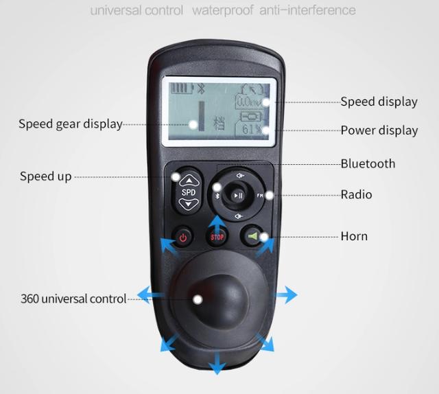 Легкая складная электроколяска для инвалидов MIRID D6033 (0018)