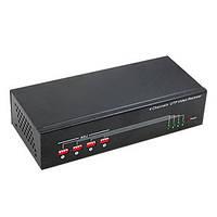 Активный 4-х канальный приёмник-усилитель видео сигнала по витой паре на расстояние до 1000 м (мод. AR4-07)