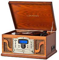 Деревянный Грамофон Проигрыватель Lauson CL123 Радио CD USB Mp3 SD  + Пульт, фото 1