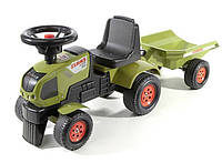 FALK Трактор ходунки Claas с прицепом, фото 1