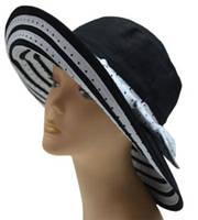 "Черно-белая летняя шляпа ""Монтана"""