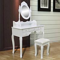 Туалетный стол Rozalia 93см с зеркалом и табуретом, фото 1