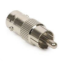 10 штук переходников из RCA (папа) в BNC (папа) для монтажа охранных систем видеонаблюдения (модель BNC-07)