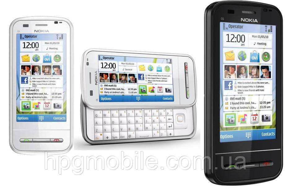Корпус для Nokia C6-00 c клавиатурой, разные цвета, оригинал