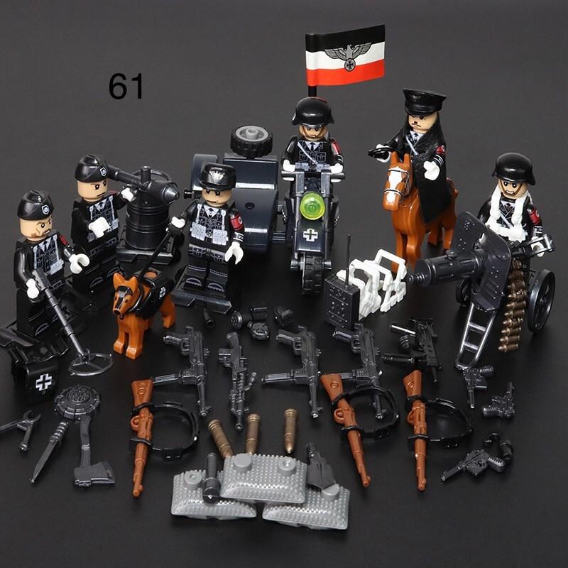 Фигурки немецких военных сс вермахт военные солдаты лего lego