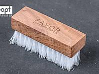 Щетка обувная FAVOR, жесткая искусственная щетина, 9,4*3,1 см, цв. щетины белый