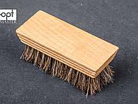 Щетка обувная FAVOR, мягкий конский волос, 9,2*3,7 см, фото 1