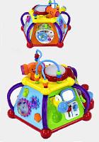 Детский сортер развивающий для малышей 806 муз, свет, трещотка, лабиринт, батар, в короб 30*28*18см