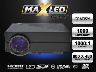 ПРОЕКТОР LED ПРОЕКТОР 1000lm  HDMI 3D XBO!!