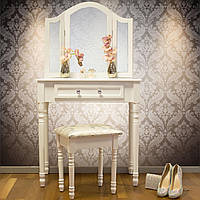 Туалетный столик Amelia с табуретом и зеркалами, фото 1