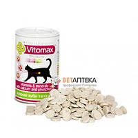 Витамины Vitomax для кошек для укрепления зубов и костей 300 таблеток Їжачок 200084