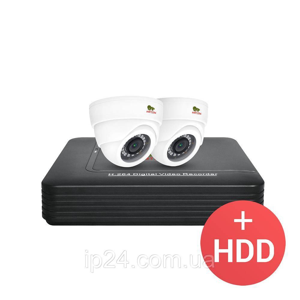 2.0MP Набор для помещений AHD-13 2xCAM + 1xDVR + HDD