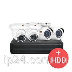 2.0MP Микс набор IP-11 4xCAM + 1xNVR + HDD