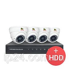 2.0 MP Набір для приміщень PRO AHD-25 4xCAM + 1xDVR + HDD