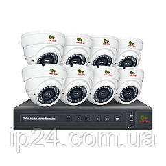 2.0MP Набор для помещений PRO IP-9 8xCAM + 1xNVR + HDD
