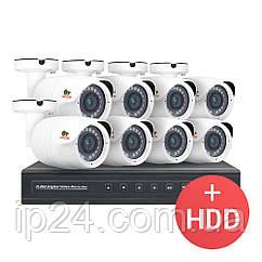 2.0MP Набор для улицы IP-18 8xCAM + 1xNVR + HDD