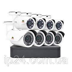2.0 MP Набір для вулиці PRO AHD-27 8xCAM + 1xDVR + HDD