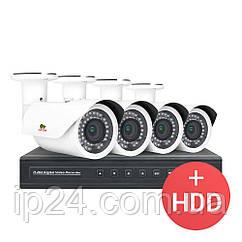 2.0 MP Набір для вулиці PRO AHD-35 4xCAM + 1xDVR + HDD