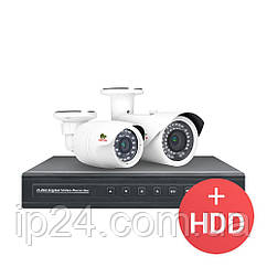 2.0 MP Набір для вулиці PRO AHD-36 2xCAM + 1xDVR + HDD