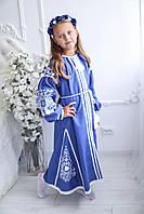 Детское вышитое платье Скд -032 завитушки