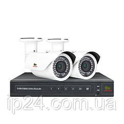 2.0 MP Набір для вулиці PRO AHD-42 2xCAM + 1xDVR + HDD