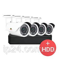 2.0MP Набор для улицы PRO IP-15 4xCAM + 1xNVR + HDD
