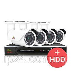 4.0 MP Набір для вулиці PRO AHD-29 4xCAM + 1xDVR + HDD