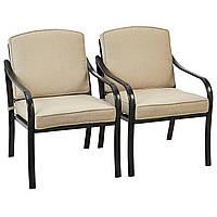 Набор садовых стульев George Home 2 Haversham Classic Dining Chairs Charcoal & Linen, фото 1