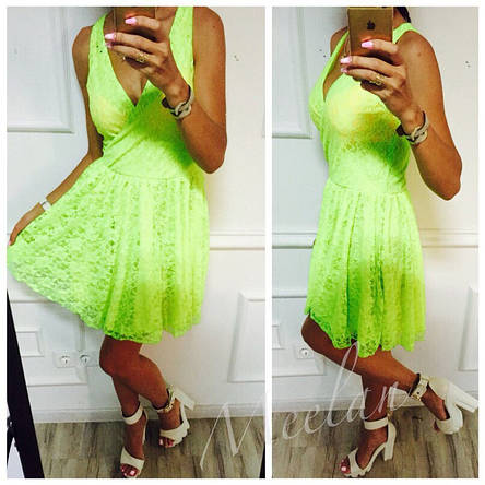 Платье в неоновых расцветках, фото 2