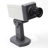 Муляж камеры, фальшивая камера видеонаблюдения (на подставке)