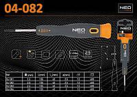 Отвертка прецизионная 2,0 х 135мм., NEO 04-082