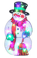 """Новогодняя скульптура """"Снеговик"""" 24 LED"""