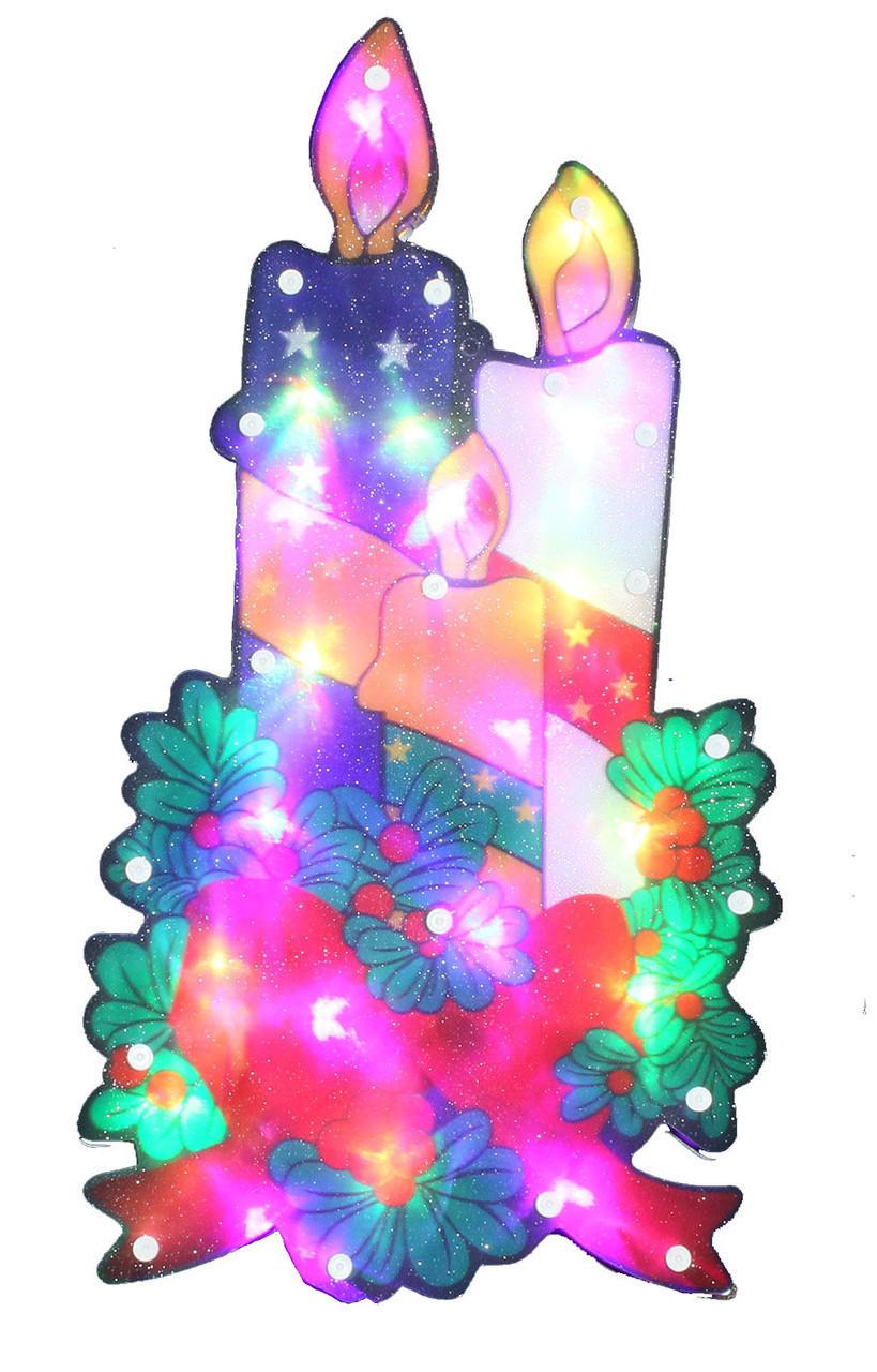 """Новогодняя скульптура """"Свеча"""" 24 LED"""