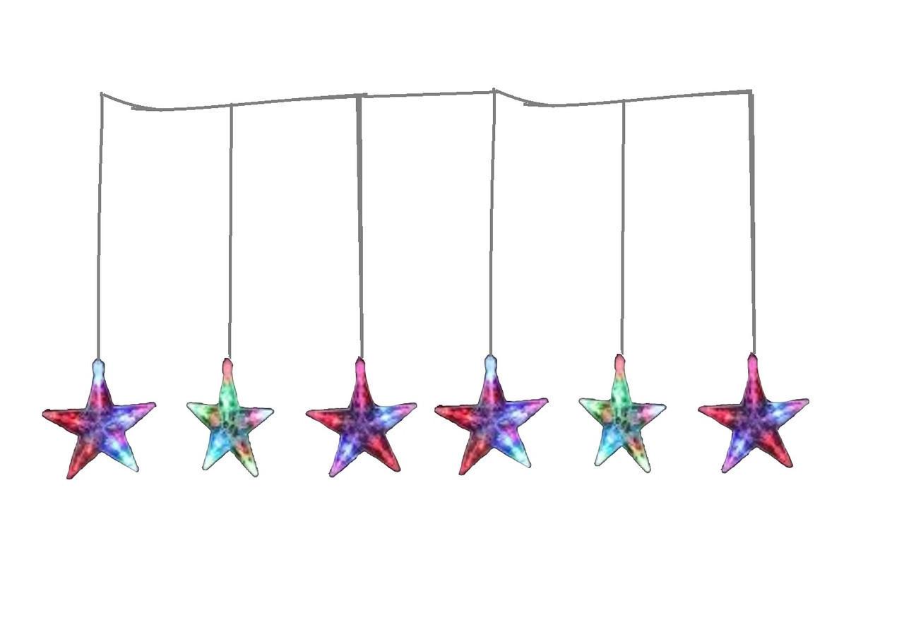 """Новогодняя гирлянда """"Звездочки"""" 100 LED, Длина 4M"""
