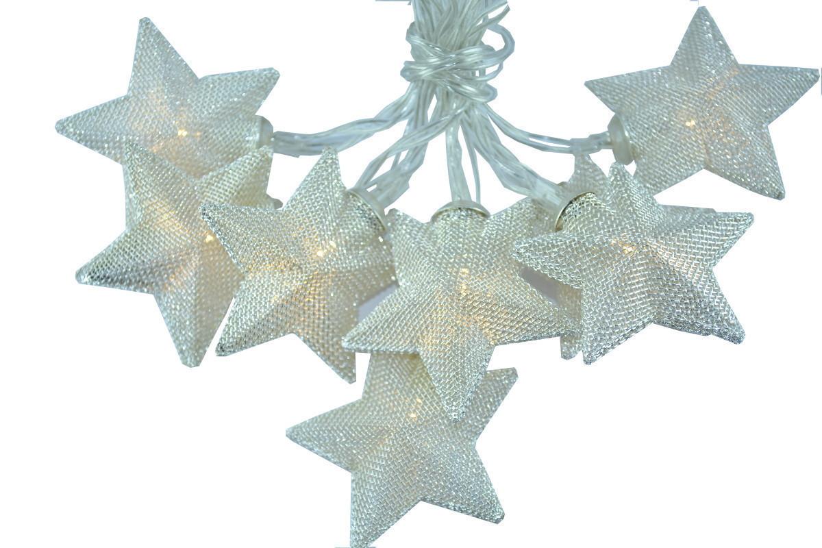 """Новогодняя гирлянда """"Звезды"""" 8 LED, Белый теплый свет"""