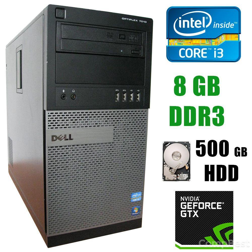 Dell OptiPlex 7010 / Intel Core i3-3220 (2(4)ядра по 3.30GHz) / 8GB DDR3 / 500GB HDD / GeForce GTX 750 2GB GDDR5 / DVD-RW