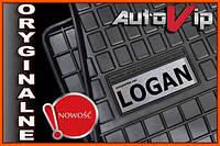 Резиновые коврики DACIA LOGAN 12-  с логотипом, фото 1