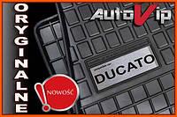 Резиновые коврики FIAT DUCATO 94-  с логотипом, фото 1