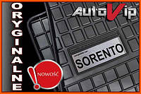 Резиновые коврики KIA SORENTO 2012-  с логотипом, фото 1