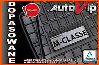 Резиновые коврики MERCEDES W164 W166 2005-  с логотипом, фото 1