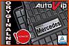 Резиновые коврики MERCEDES M-KL W164 2005-  с логотипом