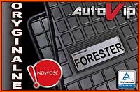 Резиновые коврики SUBARU FORESTER 2008-  с логотипом, фото 1