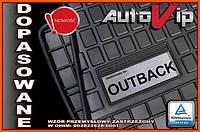 Резиновые коврики SUBARU OUTBACK 2015-  с логотипом, фото 1