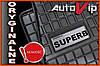 Резиновые коврики SKODA SUPERB 2015-  с логотипом